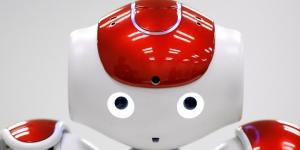 Primo piano del robot NAO
